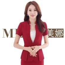 美娜9599最新2016立领西装小外套,黑红两色