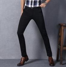 5837英伦男士休闲裤男青年春夏季韩版修身款黑色长裤商务小脚裤潮