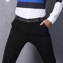 卓越少年春夏季男士商务小脚裤韩版修身弹力青少年休闲长裤子潮男装厂家直销