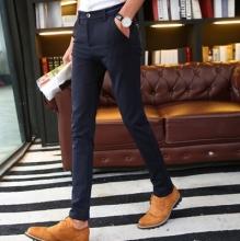 卓越少年 春夏季男士休闲裤韩版修身长裤 青少年小西裤 厂家