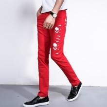 夏季新款男士休闲裤修身男裤子薄款青年直筒长裤韩版潮