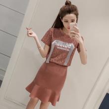 实拍6907# 新款蕾丝套装裙