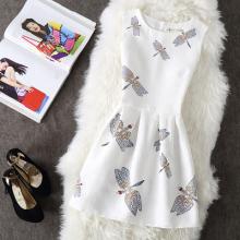 6382#(实拍)淑女小蜻蜓修身显瘦打底裙无袖收腰a字蓬蓬背心连衣裙