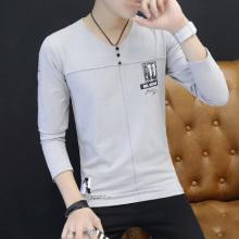 男士长袖t恤春秋款2017新款韩版修身秋装纯棉秋衣男外穿上衣5001