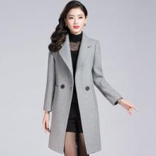 2017韩版OL气质冬羊毛大衣女士新款中长款百搭长袖毛呢外套17833