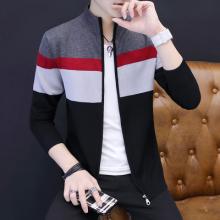 2017新款秋季外套男韩版开衫毛衣潮男针织外套毛衫上衣-321