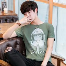 有大货2018春夏装男式T恤短袖圆领韩版短袖修身青少年印花T恤936