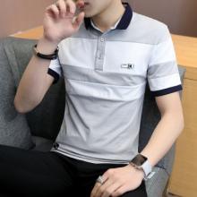 2018短袖男夏季翻领t恤韩版修身有领子体恤简约polo衫3205