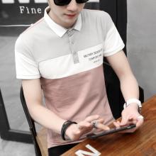 男士学生韩版短袖t恤 有领衣服夏季港风潮青年翻领POLO衫209#