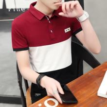 新款夏季男士短袖t恤有领POLO衫韩版潮流男装半袖体恤上衣服208#