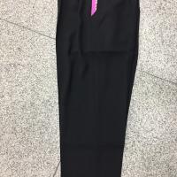 罗马高粘黑色九分裤