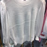 针织拼雪纺