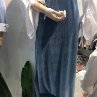 金丝绒开叉包裙