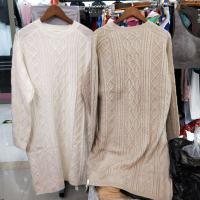 绞花羊毛裙长裙