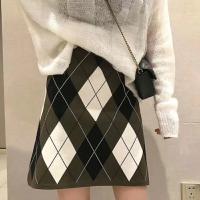 菱形针织半裙