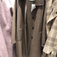 咖色人字纹腰带双面羊绒