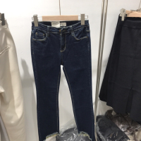 Emoni喇叭牛仔裤