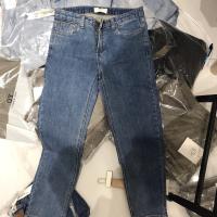 emoni直筒牛仔裤