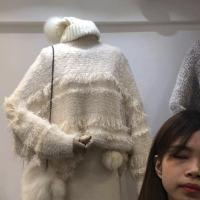水貂绒流苏毛衣