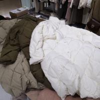 长款三色大菱形棉服