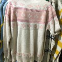 细线羊绒毛衣