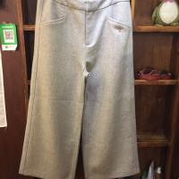 人字纹宽腿裤