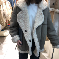 西羊羔毛外套