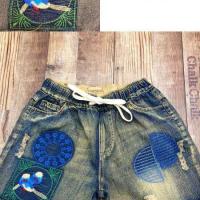 绮梦蓝喜鹊短裤