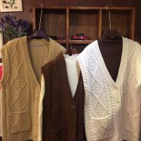 韩国羊毛麻花编织背心