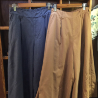 日本磨棉纯色宽腿裤