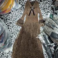 胸针豹纹网纱