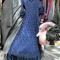 密考领丝绒网纱