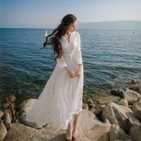 真丝白色连衣裙
