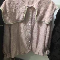 珍珠领衬衫