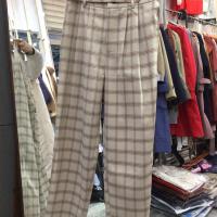帛兰雅格子长裤