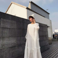 豹纹雪纺连衣裙