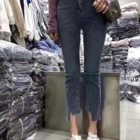 不规则牛仔裤