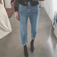破边牛仔裤