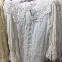 棉衬衣花边领