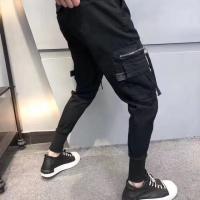兜拉链工装裤