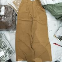 驼色阔腿裤
