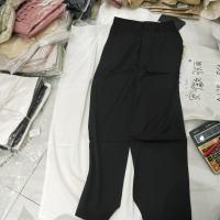 两色直筒裤