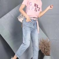 2063女式牛仔跨裤