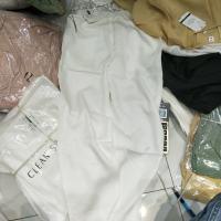 白色天丝裤