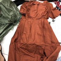 三色连衣裙