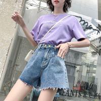 竹节料短裤