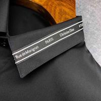 织带拼条长衬衫