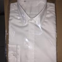 领刺绣长衬衫