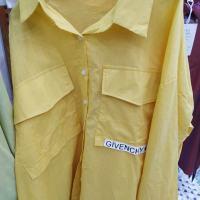 大口袋字母衬衣