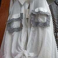 格子口袋衬衣